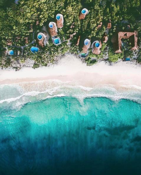 aerial tulum beach